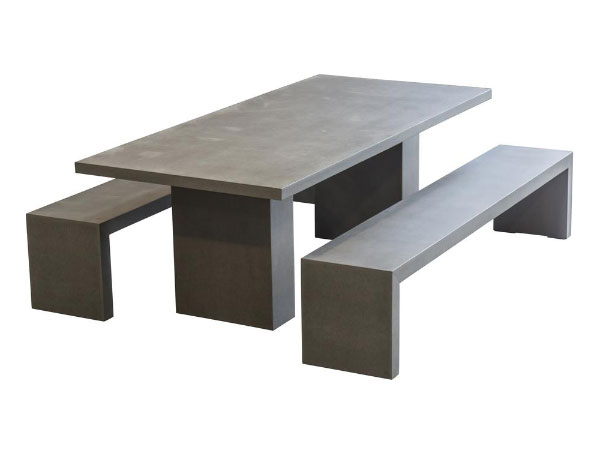 Brooklyn 3 Piece Outdoor Bench Dining Setting